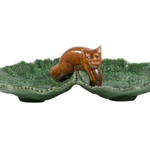 Bordallo Animal Fox Leaf Plate