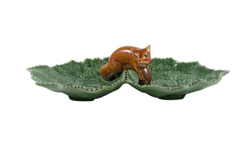 Bordallo Animal Fox Leaf Plate