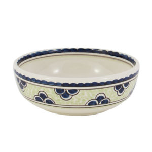 """Blue & Green Rooster 6"""" Cereal Bowl"""