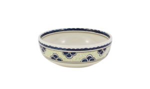 "Blue & Green Rooster 6"" Cereal Bowl"