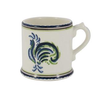 Blue Green Rooster Mug