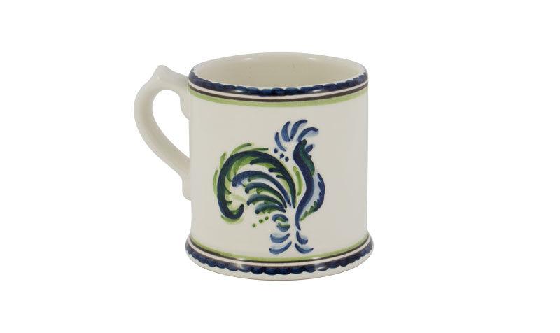 Blue & Green Rooster Mug