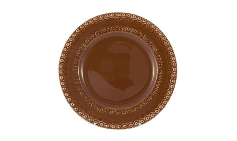 """Bordallo 10"""" Dinner Plate Brown"""