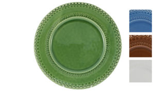 "Bordallo 12"" Charger Green with Variations"