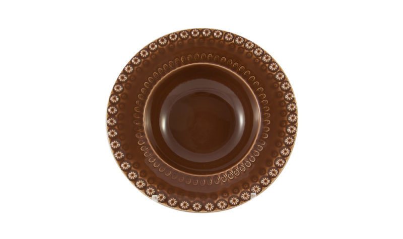 "Bordallo 6"" Cereal Bowl Brown"