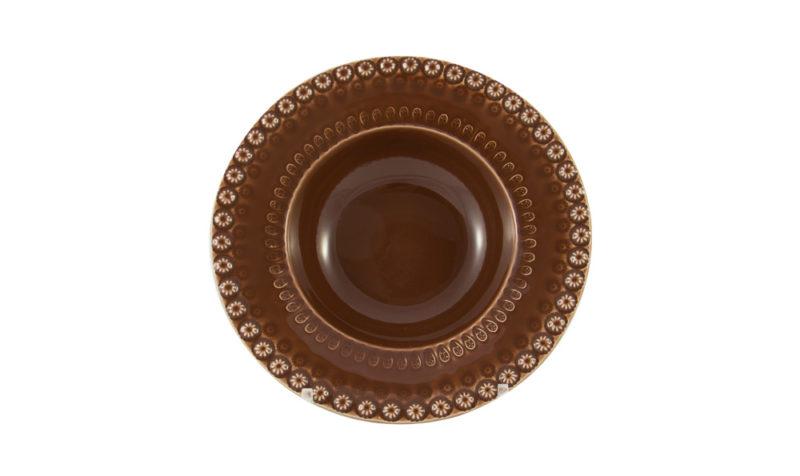 """Bordallo 6"""" Cereal Bowl Brown"""