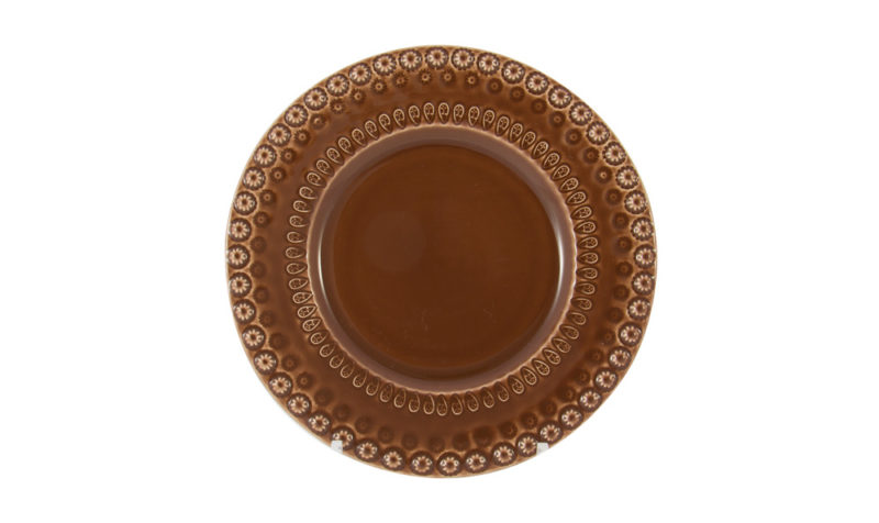"Bordallo 8"" Dessert Plate Brown"