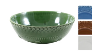 Bordallo Service Bowl Green with Variations
