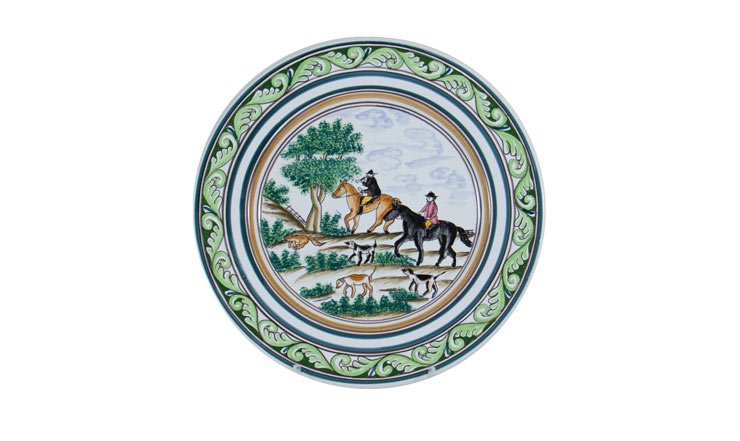 """Century Hunt 11"""" Dinner Plate"""