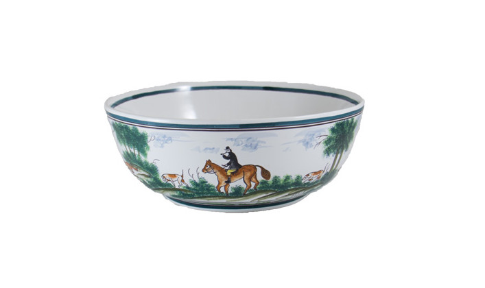 "Century Hunt 12"" Serving Bowl Side View"