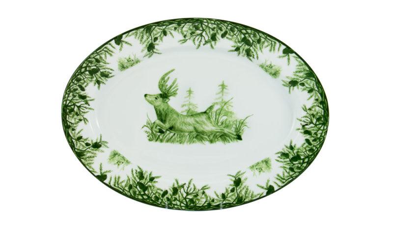 "Forest 16"" Oval Platter"