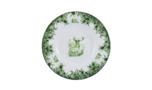 "Forest 9"" Rimmed Soup Bowl"
