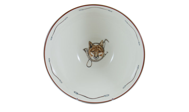 Fox & Horn Serving Bowl