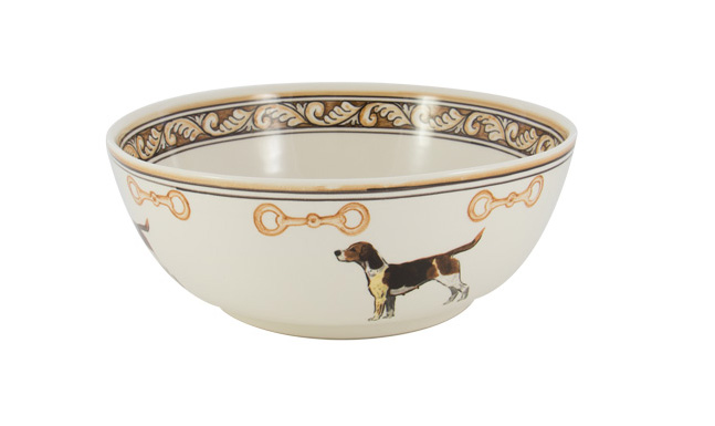 "Heritage Hound 11"" Serving Bowl"