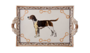 Heritage Hound Two Handled Tray