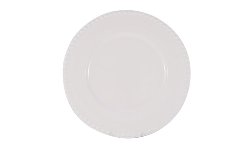 Large Tiered Plate in white