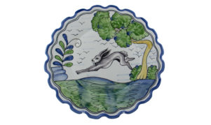 """Le Lapin 12"""" Scalloped Charger"""
