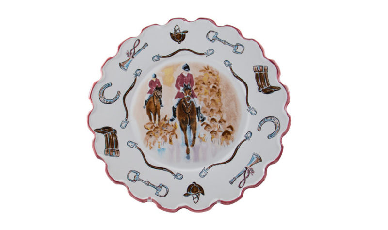 """Opening Day 12"""" Scalloped Plate"""