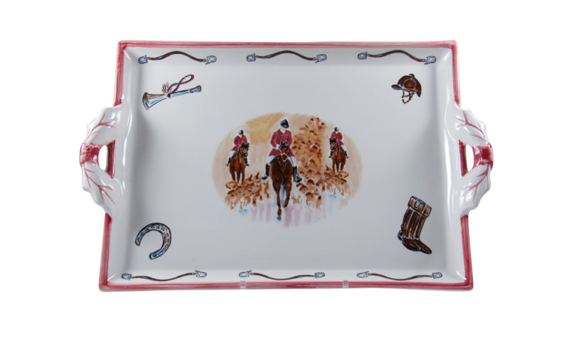 Opening Day Two Handled Tray