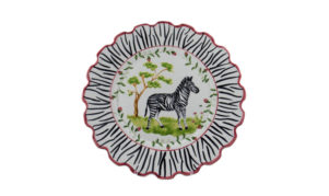 "Zebra 10"" Scalloped Dinner Plate"