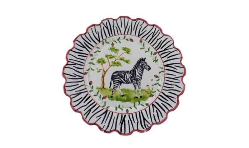 """Zebra 10"""" Scalloped Dinner Plate"""