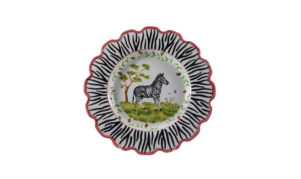 "Zebra 10"" Scalloped Plate"