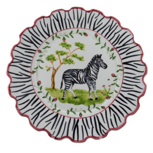 Zebra Scalloped Charger