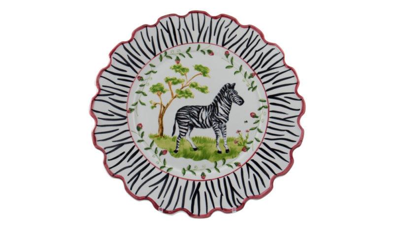 Zebra Scalloped Charger