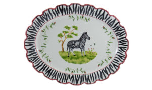 "Zebra 18"" Scalloped Platter"