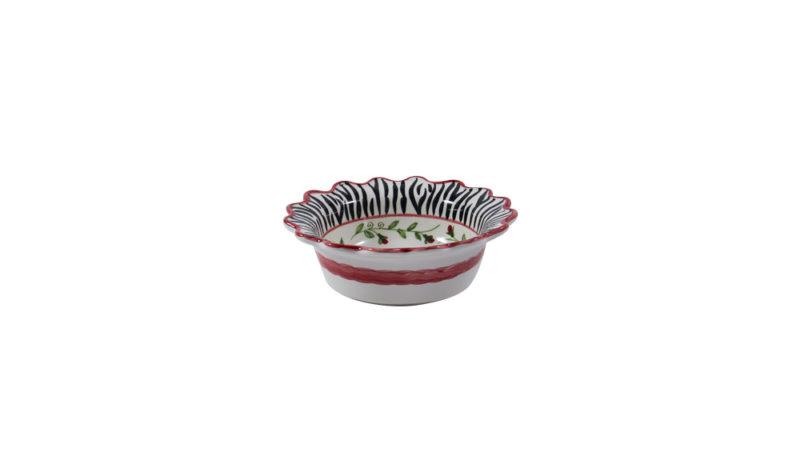"Zebra 7"" Scalloped Cereal Bowl"