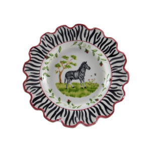 "Zebra 8"" Scalloped Dessert Plate"