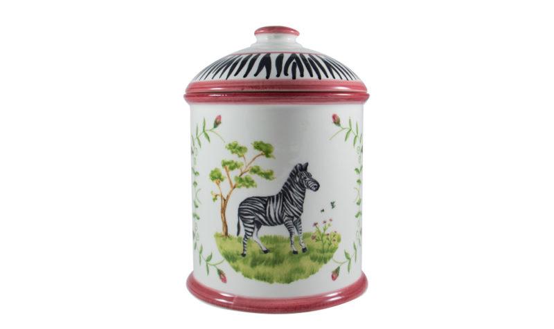 Zebra Canister