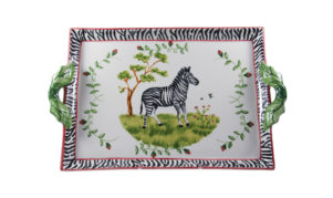 Zebra Two Handled Tray