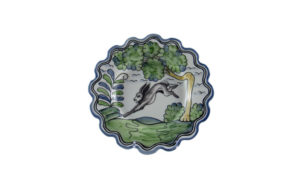 "Le Lapin 8"" Scalloped Plate"