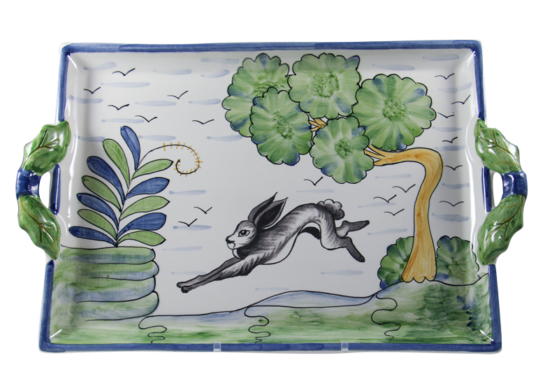 Le Lapin Two Handled Tray