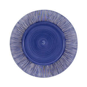 "Straw Chargers 12"" Rim Plate Blue"