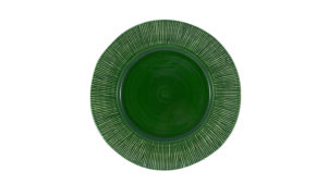"Straw Chargers 12"" Rim Plate Green"