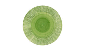 "Straw Chargers 12"" Rim Plate Lime Green"