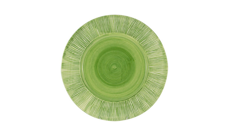 """Straw Chargers 12"""" Rim Plate Lime Green"""