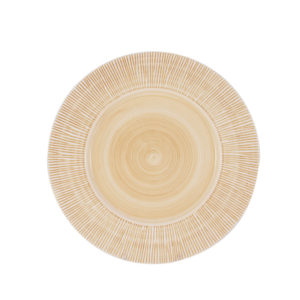 "Straw Chargers 12"" Rim Plate Peach"