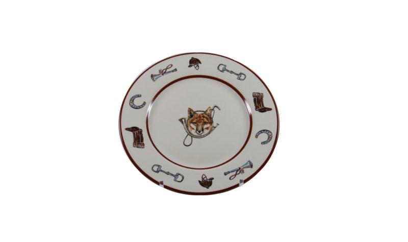 Fox & Horn Dessert Plate