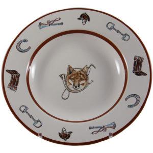 Fox Horn Rimmed Soup Bowl