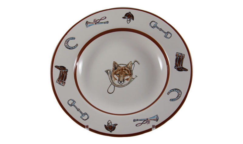 Fox Horn Rimmed Soup Bowl
