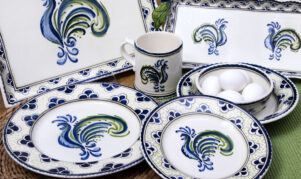 Blue & Green Rooster